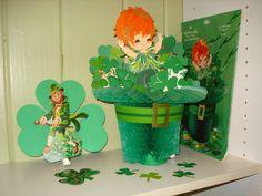 Vintage St Patricks Day Honeycomb
