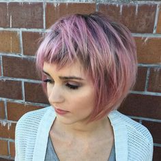 "1,048 Likes, 28 Comments - Katie Sanchez (@katiezimbalisalon) on Instagram: ""Love the texture to this short cut! If you're going to rock a bob make it edgy and fun!"""