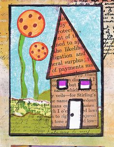 Flickr: The Mixed Media Artists Swapbot Group Pool - House ATC