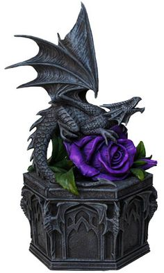 Anne Stokes Box - Dragon Beauty Trinket Box. This would look great in my bedroom next to my gargoyle topped castle box.