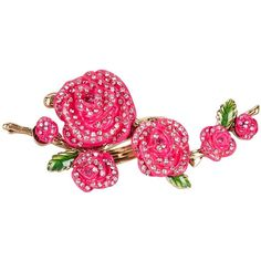 Betsey Johnson Pink Flower Ring - Size 7.5 ($37) ❤ liked on Polyvore featuring jewelry, rings, pink, pink flower ring, rose flower ring, rose jewelry, flower ring and rhinestone jewelry