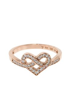 Love Knot Pave Ring - would be pretty in rose gold Heart Jewelry, Cute Jewelry, Gold Jewelry, Jewelry Accessories, Heart Rings, Heart Knot, Gold Engagement Rings, Engagement Ring Settings, Wedding Rings