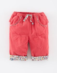f4238a40ba9 Mini Boden Heart Patch Cord Pants Cord Trousers
