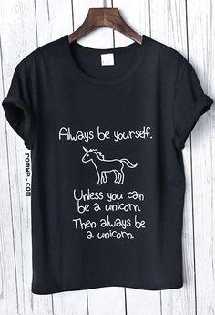 Black Slogan Print Short Sleeve T-shirt