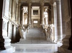 Cicero's Welcoming at the entrance of the Palace of Justice of Brussels, Belgium