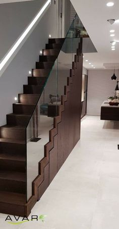 Mögliche Treppe - New Ideas Staircase Wall Decor, Timber Staircase, Stair Walls, Interior Staircase, Stairs Architecture, Staircase Railings, Staircase Design, Stairs In Living Room, House Stairs