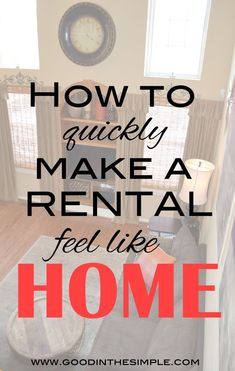 After living in 7 rentals over the past 15 years, I've learned how to make an apartment or rental house feel like home quickly. Click to learn my 4 best tips and tricks! #rollontheclean #ad