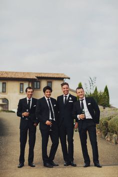 A picture of Chris and his groomsmen with their favorite bottled beerwould be cute for having and putting up in the 'man cave'