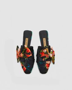 Image 3 of FLORAL MULES from Zara