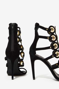 Jeffrey Campbell Anello Suede  Heel - Shoes   Open Toe   Jeffrey Campbell   Shoes   All