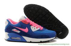 Nike Air Max 90 Escuro Azul Rosa Branco