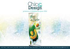 Kakémono création design pour présentation d'un nouveau produit PERLE DE MELON de chez FDL