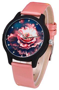 Kezzi Women's K1001 Fashion Floral Quartz Analog Pink Leather Strap Watch for Ladies Kezzi http://www.amazon.com/dp/B00ZRZFB8O/ref=cm_sw_r_pi_dp_aqnGvb1NYXC4M