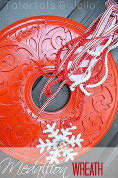 Christmas Wreath from Ceiling Medallion