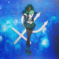 Sailor Moom, Sailor Neptune, Sailor Moon Makeup, Sailor Scouts, Magical Girl, Anime, Paper Crafts, Superhero, Manga