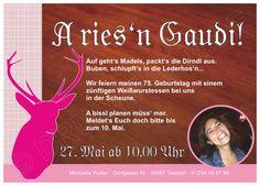 Gaudi, Armin, Pink, Poster, Patio, Thirty Birthday, Invitation Birthday, Oktoberfest Invitation, Invitation Ideas