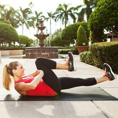 Reverse Plank Hover - Lose the Pooch! The Best Exercises for Lower Abs - Shape Magazine - Page 5