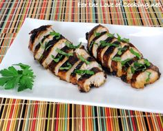 Balsamic, Garlic & Basil Marinated Chicken Breasts -- Simple marinade for delicious boneless, skinless chicken.