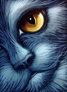 Art: BLACK CAT TOPAZ EYES by Artist Cyra R. Cancel