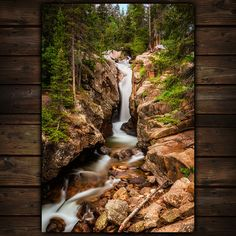 Where Can I Find Peace In A Crazy World I Love To Find It By Looking Up At A Beautiful Piece Of Art With This Nature Print Of A Waterfall In Rocky