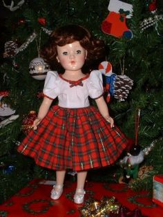 Mary Hoyer Doll - 1950's-I have a dress like this my mom made from a Mary Hoyer pattern.