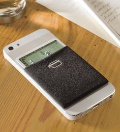 The Card Ninja Phone Wallet provides a convenient pocket that attaches to the back of your phone for easy access/organization of your credit cards, I.D. and cash--super convenient for guys who like to travel light.