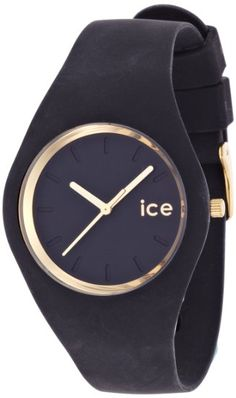 Ice-Watch - ICE.GL.BK.U.S.13 - Ice Glam - Black - Unisex - Montre Femme - Quartz Analogique - Cadran - Bracelet Silicone Noir: Amazon.fr: Mo...