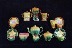 Majolica Tea Sets and Dishes