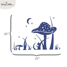 I bought this for the nursery in violet. Nursery Ideas, Bedroom Ideas, Enchanted Forest Nursery, Baby Bedroom, Wall Sticker, Mushrooms, Kids Room, Projects To Try, Trees