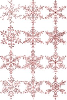 12 snowflake patterns... so intricate, but I would LOVE to display these! $24.70 for the set.