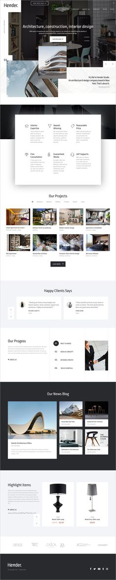 Hender is a clean and clear 6in1 responsive #WordPress Theme for #Architecture and #Interior Design #Agency websites download now➩ https://themeforest.net/item/hender-architecture-and-interior-design-agency-wordpress-theme/18975710?ref=Datasata