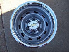 Chevy Truck or Steel Wheels 6 Lug Rally Steel Wheels . Chevrolet Apache, Chevrolet Silverado, Truck Wheels, Wheels And Tires, Chevy Trucks, Pickup Trucks, 1952 Chevy Truck, Fox Body Mustang, Wheels For Sale