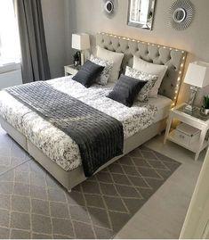 Bedroom Themes, Bedroom Styles, Bedroom Inspo, Home Decor Bedroom, Living Room Decor, Bedroom Ideas, Small Room Bedroom, Dream Bedroom, Master Bedroom