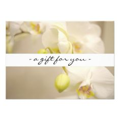 Natural Health Spa Lotus Flower Gift Certificate Card | Gift ...