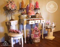 Marie Antoinette birthday theme bu Maryam's Cakery