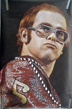 VERY RARE ELTON JOHN 1974 VINTAGE ORIGINAL HEAD SHOP PIN UP MUSIC POSTER