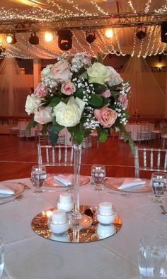 This approach looks sensible Marriage Preparation Quinceanera Centerpieces, Candle Wedding Centerpieces, Glass Centerpieces, Quince Decorations, Wedding Decorations, Floral Wedding, Wedding Flowers, Eiffel Tower Vases, Deco Table