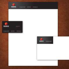 A Black Stationery Set Design. #stationery #design  $29.00