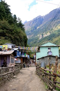 Annapurna Circuit in Nepal. One of the highlights of this hike was when you first arrive in a village and the unknown venture ahead.