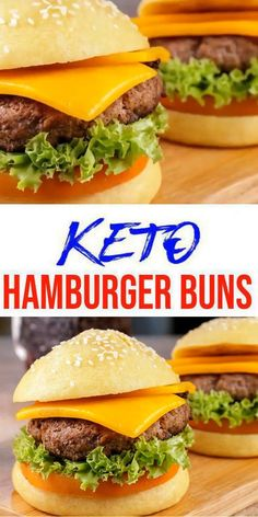 Keto Hamburger Bun Recipe, Gluten Free Hamburger Buns, Healthy Hamburger, Gluten Free Buns, Keto Buns For Burgers, Low Carb Burger Buns, Keto Burger, Burger Bread, Diet Ketogenik
