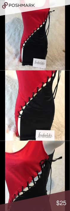 """Fredericks of Hollywood I'm not sure what to call this, it's slinky, it's sexy...and you can wear it and call it what ever you want, a dress? Nightwear? It's a medium, pit to pit measures almost 17"""".  No pets or smoking around my closet! Frederick's of Hollywood Intimates & Sleepwear"""