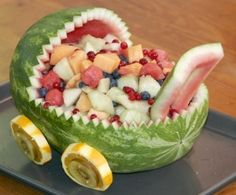 Watermelon Baby Carriage.  Great for baby showers!  :)