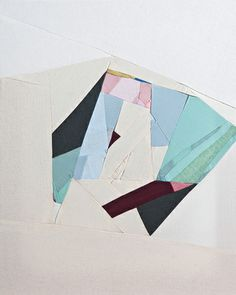 """Jessica Bell. Not Quite Home 1  Not Quite Home textile series: 16"""" x 20"""" per panel of sewn textile stretched over wood frame. (2012, permalink)"""