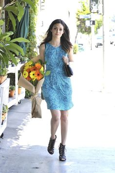 Emmy Rossum in Banana Republic Issa London Collection in LA