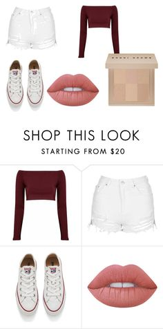 """#Basic"" by llalto29 ❤ liked on Polyvore featuring Glamorous, Topshop, Converse, Lime Crime and Bobbi Brown Cosmetics"