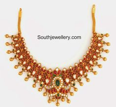 bridal ruby necklace