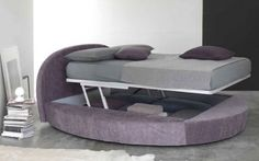 Lit rond coffre giotto walterbed  http://www.litrond.com/Lit-rond-coffre-Giotto-Walterbed-0,,110,37.html