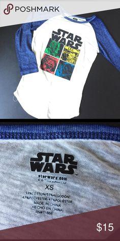 Star Wars Raglan Long Sleeve T-shirt Brand new Star Wars long sleeve T-shirt Star Wars Tops Tees - Long Sleeve