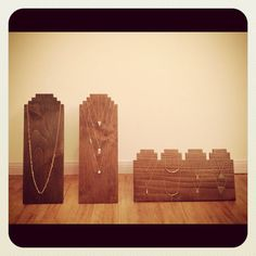 Um, Hubby? Handmade Wooden Necklace Display Craft Show by YoshidaWorkshop,