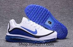 Top Quality Nike Air Max 2017 KPU White/Royal Blue Men's Running Shoes Sneakers 898013 111 – Join the world of pin Nike Air Max 2017, Cheap Nike Air Max, Cheap Air, Mens Running Trainers, Running Shoes For Men, Nike Running, Trail Running, Mens Nike Air, Nike Men